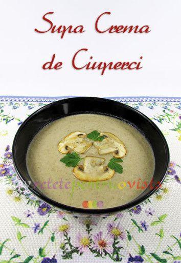 Supa crema de ciuperci este o supa gustoasa, fina, catifelata, cu o aroma intensa de ciuperci, perfecta pentru o masa delicioasa!