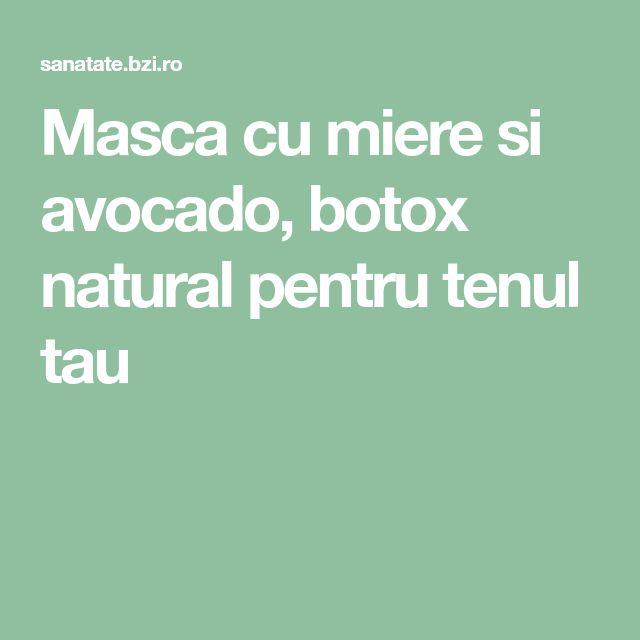 Masca cu miere si avocado, botox natural pentru tenul tau