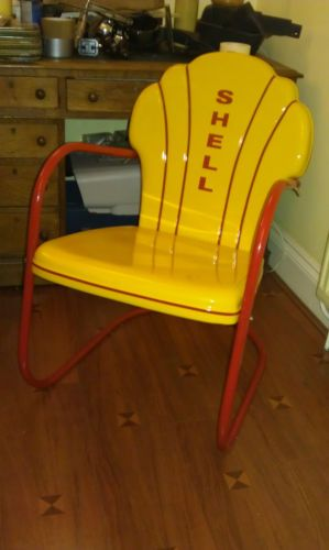 L 599. Mid century vintage art deco Shell Oil chair 20s/30s/40s US gas station Eames | eBay