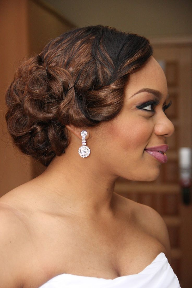 Astounding 1000 Images About African American Wedding Hairstyles On Short Hairstyles Gunalazisus
