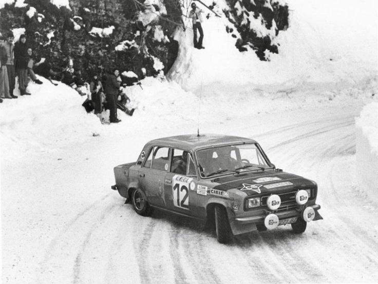 Antonio Zanini-Juan José Petisco. SEAT 124-1800. Montecarlo Rally 1977