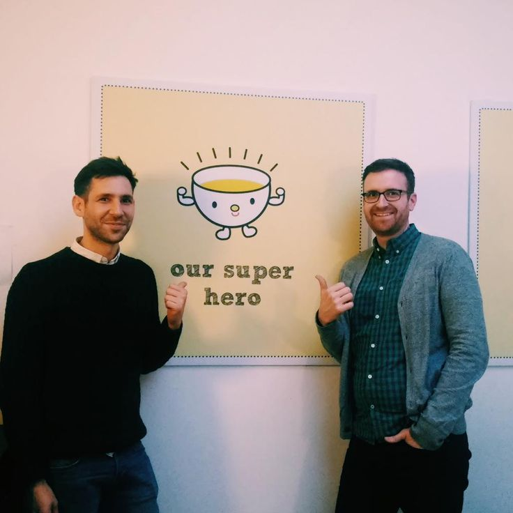 look! simon from @teapigsHK and matthew from @teapigsUS have come to visit! #thumbsup