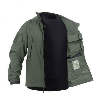 Concealed Carry Soft Shell Jacket is the ultimate tactical jacket that features a waterproof outer-shell and inner lightweight, breathable moisture material that makes it ideal for extreme temperatures and activities.  The tactical jacket comes equipped with 1 concealed carry pocket with hook & loop closure on each interior side of the jacket ( the jacket will work for both left and right handed draw) and 2 mag pouches on each interior side as well with hook & loop closures. In addition…