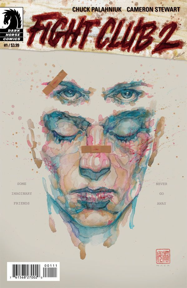 Issue 1 cover of FIGHT CLUB 2, with cover art by David Mack and story by Chuck Palahniuk.
