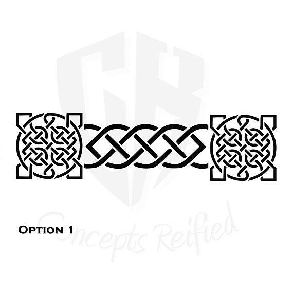 celtic knot border stencils