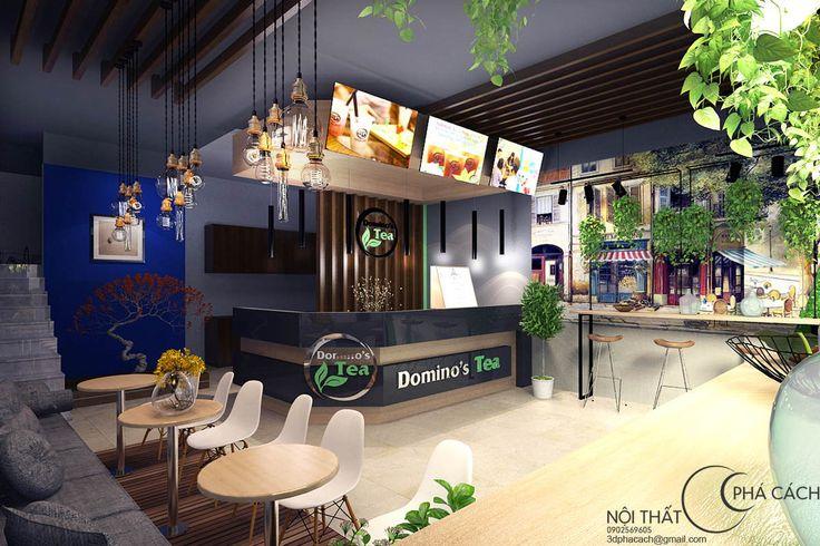 Chuỗi trà sữa Dominos Tea có địa điểm nằm tại Sơn La, Yên Bái. Nếu các bạn đã từng theo dõi theo Nội Thất Phá Cách trong thời gian qua