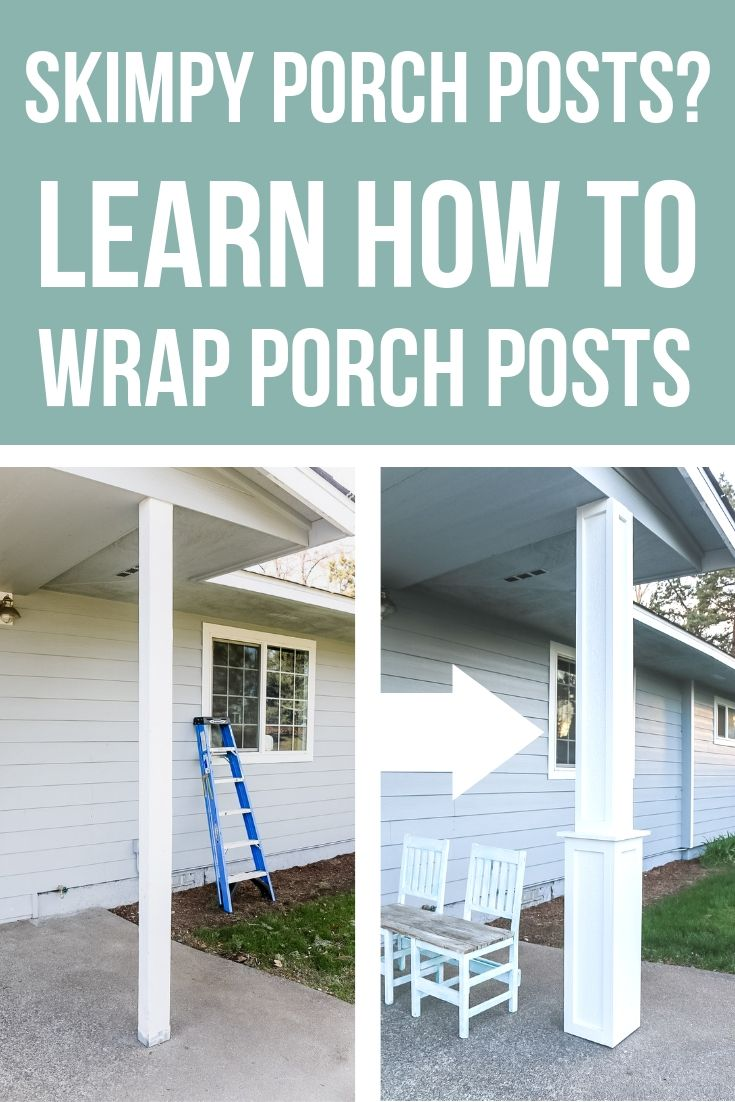 decorative windows for houses glasses to add.htm how to update your skinny porch posts for added curb appeal  how to update your skinny porch posts