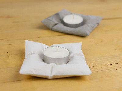 So können Sie die trendigen DIY-Betonkissen-Kerzenhalter nachbasteln!