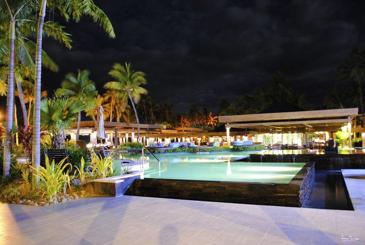 Pool - Flying Fish Restaurant & Bar - Sheraton Fiji - Night Photography