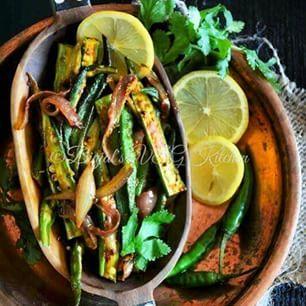 Bhindi Do Pyaza/okra onion stir fry
