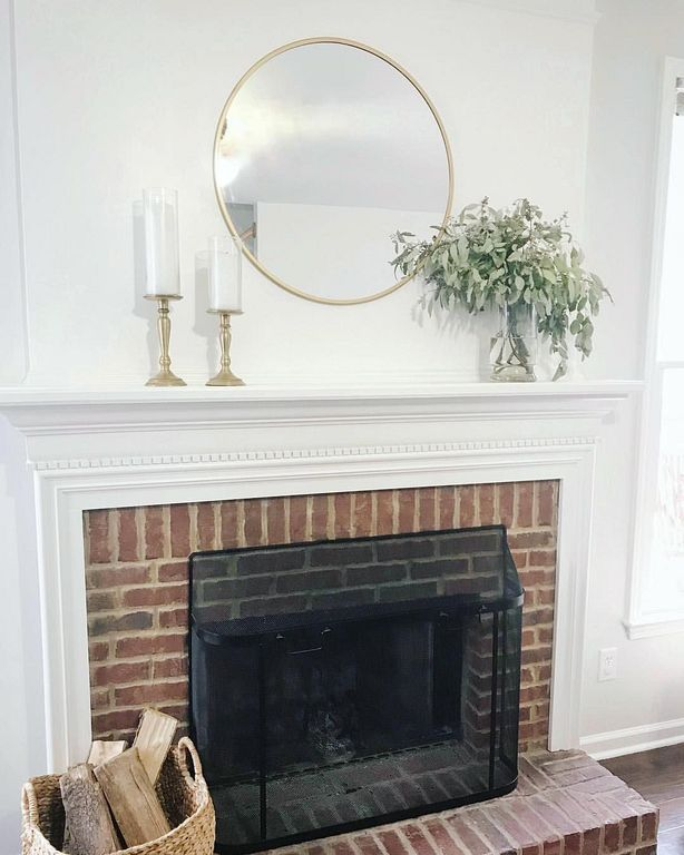 20 Round Mirror Over Fireplace Ideas You Can Try At Your Home Above Fireplace Decor Mirror Over Fireplace Fireplace Mantle Decor