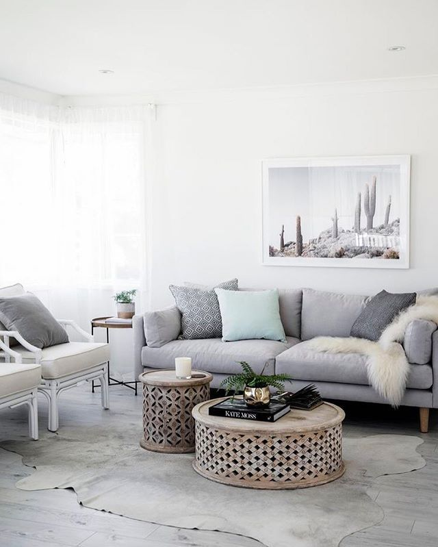 Serene living room via @homebeautiful