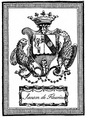 One of the Sanson family crests of France. The family were chief executioners to the Royal Court from the mid 1700's to the French Revolution.