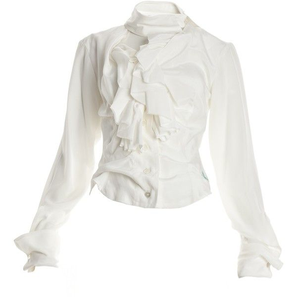 a589ff56d Designer Clothes, Shoes & Bags for Women | SSENSE. Vivienne Westwood White Silk  Blouse ($680) ❤ liked on Polyvore featuring ...