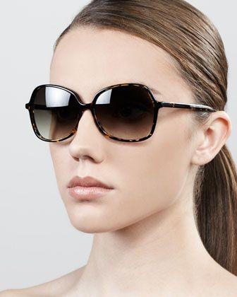 Shrimpton Semi-Square Sunglasses, Heroine Chic by Barton Perreira at Bergdorf Goodman.