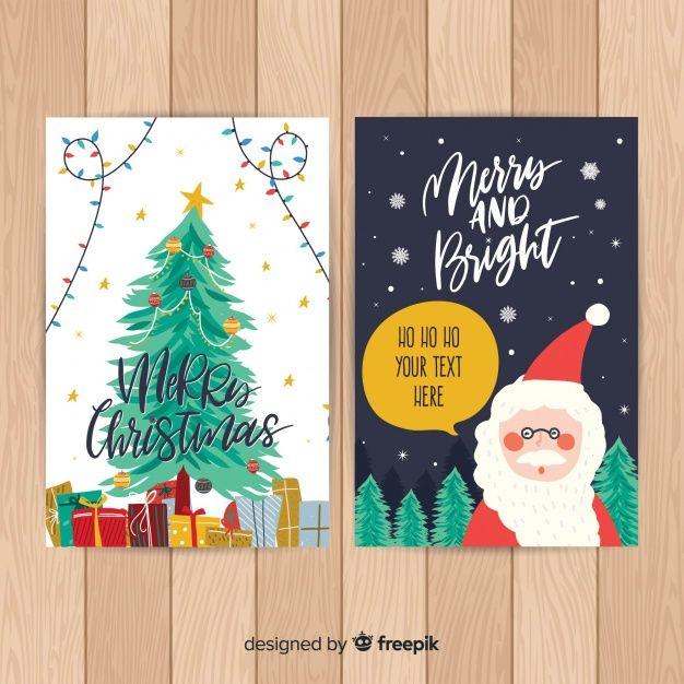 Hand Drawn Santa Claus Christmas Card Template How To Draw Santa Christmas Card Template Christmas Card Templates Free