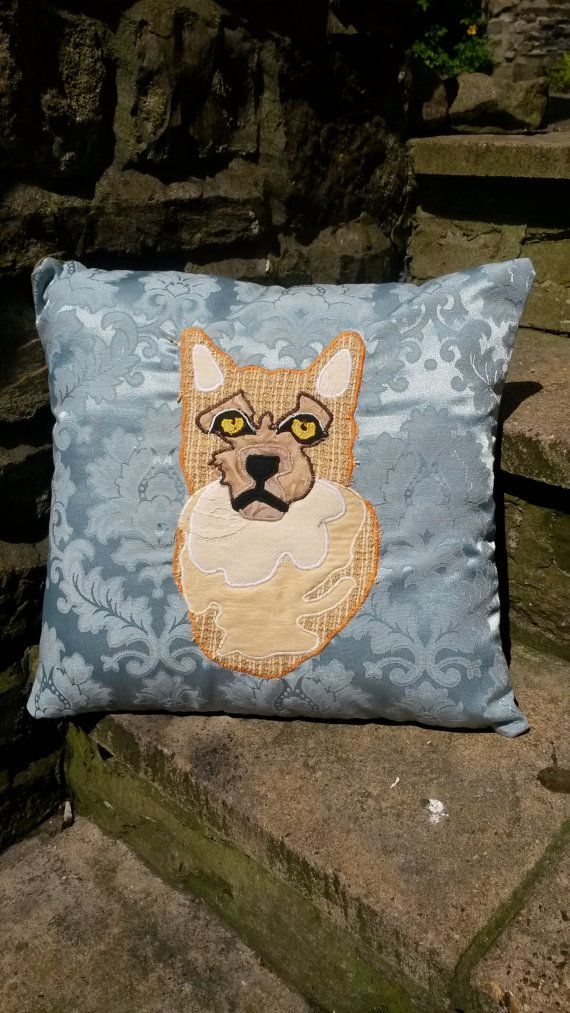 Ginger Tabby Cat Cushion Pillow Kitten Animal by ByeBrytshi