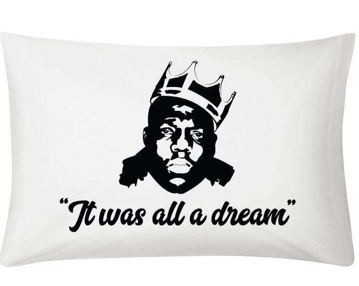 "Custom Notorious Big/Biggie ""It Was All A Dream"" Pillow Case"