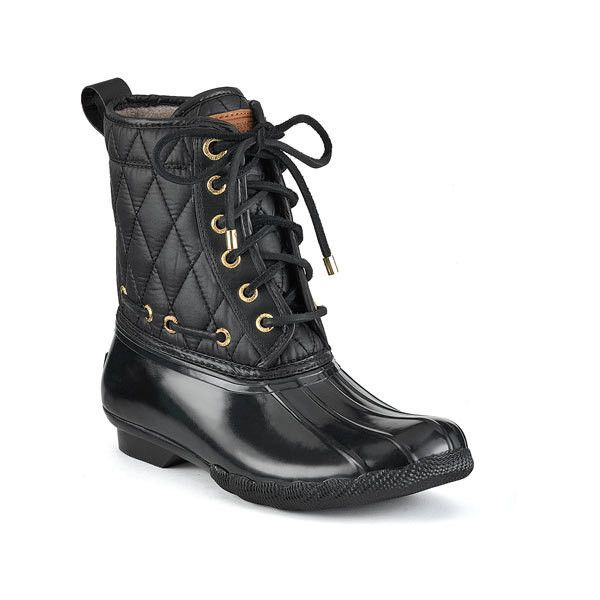 Shearwater Boot ($70) ❤ liked on Polyvore featuring shoes, boots, sperrytopsider, sapatos, sperry, water proof shoes, multi color boots, waterproof rubber shoes, multi color shoes and special occasion shoes