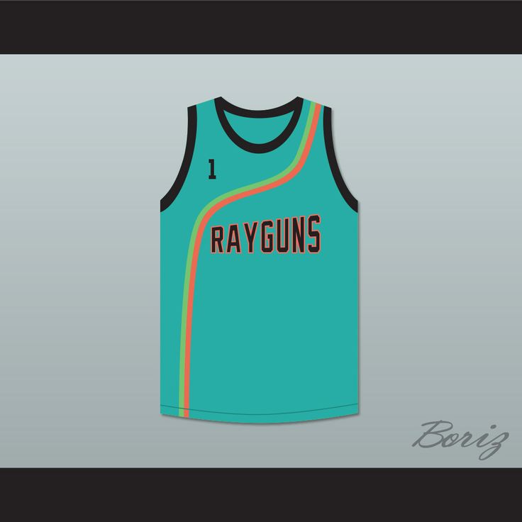 "Baron Davis 1 Roswell Rayguns Teal Basketball Jersey. STITCH SEWN GRAPHICS  CUSTOM BACK NAME CUSTOM BACK NUMBER ALL SIZES AVAILABLE SHIPPING TIME 3-5 WEEKS WITH ONLINE TRACKING NUMBER Be sure to compare your measurements with a jersey that already fits you. Please consider ordering a larger size, if you prefer a loose fit. HOW TO CALCULATE CHEST SIZE: Width of your Chest plus Width of your Back plus 4 to 6 inches to account for space for a loose fit. Example: 18"" wide chest plus 18"" wide…"