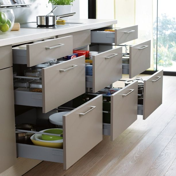 Have everything to hand with #Schuller's ingenious drawer systems