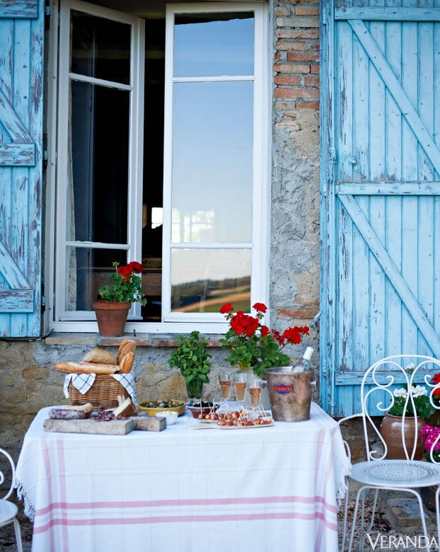 French Gardens - French Houses - Veranda