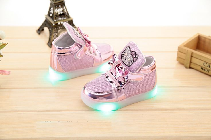 cute cartoon lightning baby shoes hello kitty flash solid shoes for 9M-6yrs baby newborn infantil outdoor causal shoes hot sale //Price: $29.82 & FREE Shipping //     #hashtag3