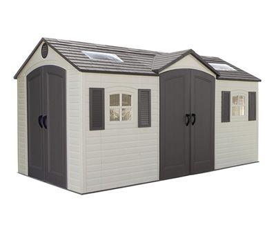 Lifetime 15x8 Plastic Storage Shed Kit w/ Double Doors
