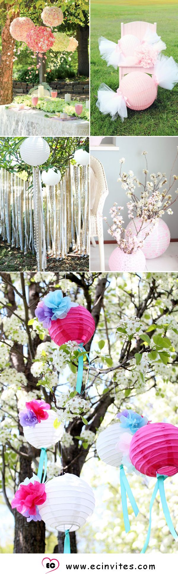 40 best paper lantern wedding ideas images on pinterest paper stunning paper lantern wedding decor ideas junglespirit Image collections