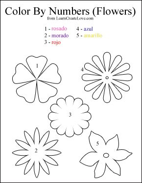 { Color By Numbers: Flowers } | printables | Pinterest