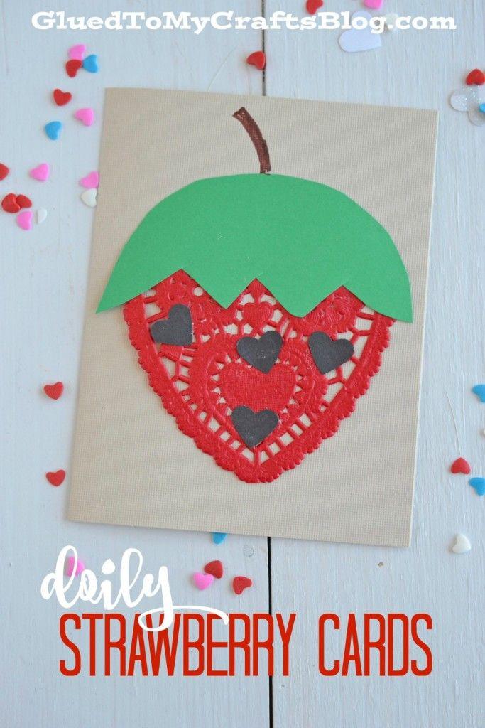 Doily Strawberry Cards – Kid Craft