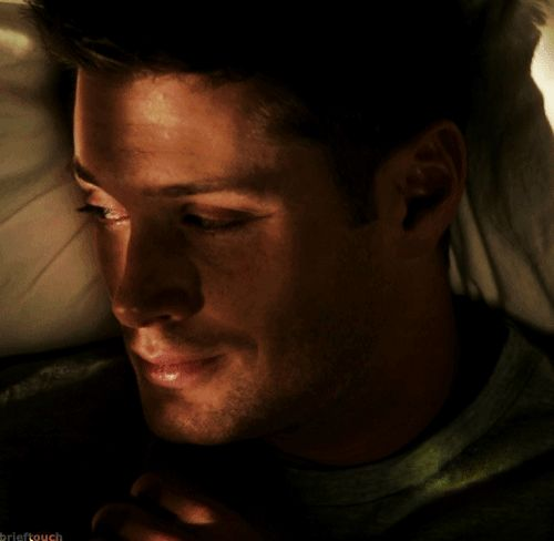 (I'm bored don't judge me). Imagine: You lay beside Dean, sleeping peacefully after a hard day. You had intended to stay up and tell your boyfriend all that had happened that day, but you're worn out, stressed and sleepy. As you rest close against dean and go into your rambling about the day, you fall asleep. The soothing feeling of his arm around you, the rise and fall of his chest, The soft hum in his chest as he breathes , and his hand running through your hair helped lull you to sleep…