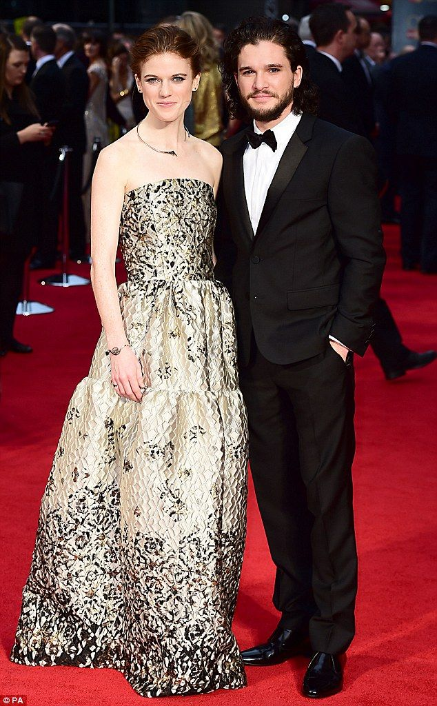 Game on! Kit Harington finally made his red carpet debut with girlfriend Rose Leslie on April 3, 2016 - when they both attended the Olivier Awards