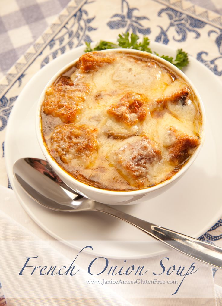 Gluten Free French Onion Soup by Janice Amee's Gluten Free