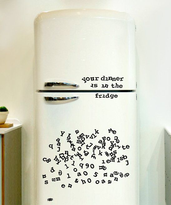 Fridge Font Alphabet Magnets