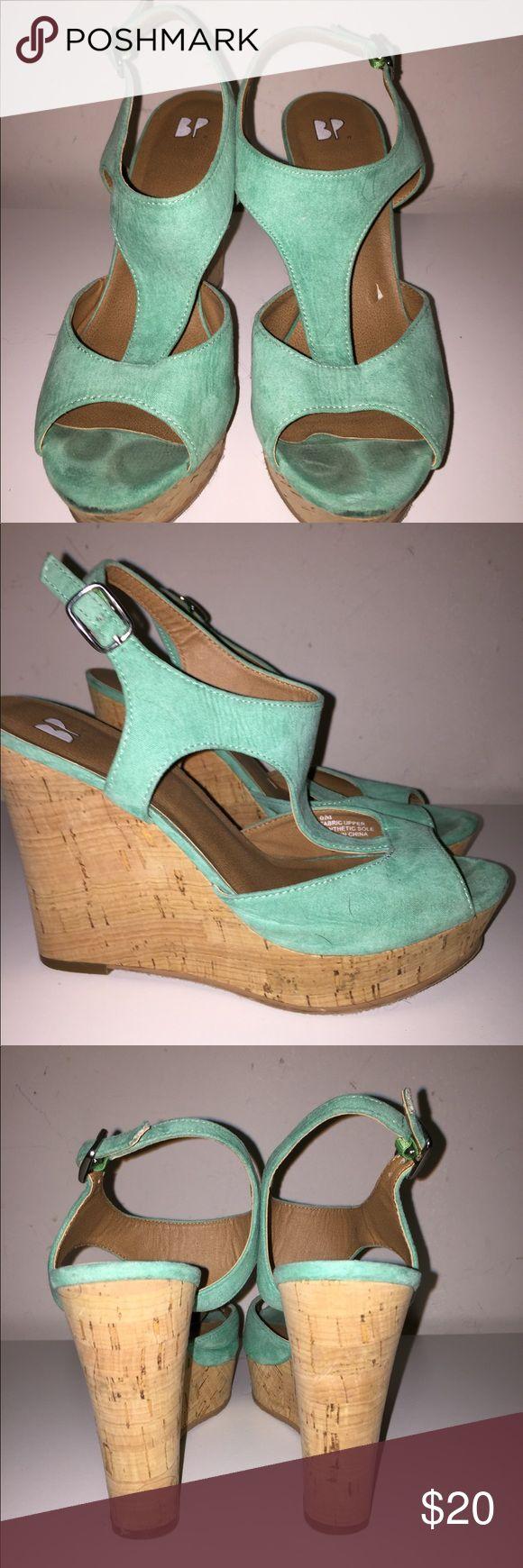 Teal wedges from Nordstrom BP Teal wedge, super cute and trendy! Nordstrom Shoes Heels