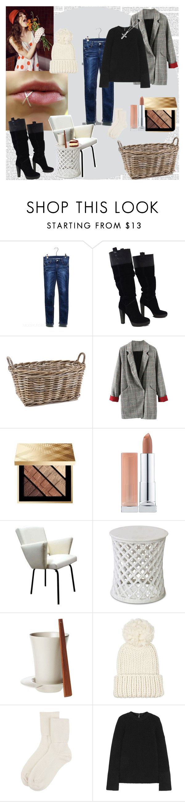 """Exit"" by black-wings ❤ liked on Polyvore featuring BCBGMAXAZRIA, Wildfox, Zara Home, Burberry, Maybelline, Design House Stockholm, Eugenia Kim, Johnstons of Elgin, Rochas and Kevin Jewelers"