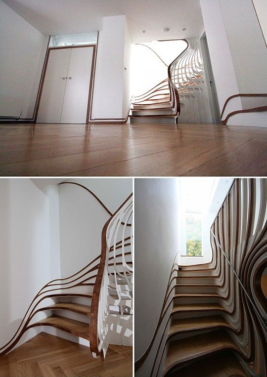 Stairs to my waterslide bedroom!