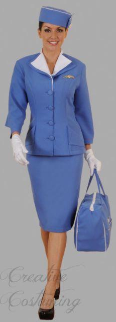 Pan Am Retro Airline Stewardess Costume