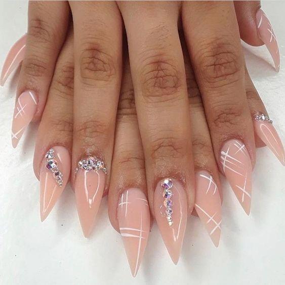 53 Kreative Stiletto Nail Art Designs – stiletto nail