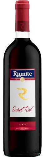 Riunite Sweet Red: Ruby red in color with a garnet reflection, Riunite Sweet Red shows a beautiful floral scent with hints of red berries. According to the winemaker, it is an easy-drinking, quaffable wine with a soft, round finish. It pairs perfectly with spicy cuisine, sandwiches, salads and aged cheeses.