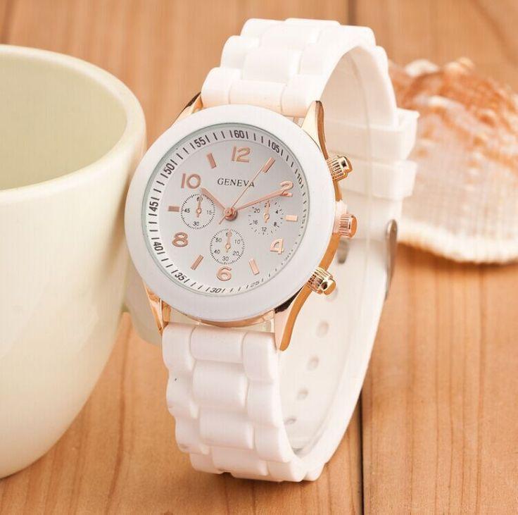 Women watches Fashion Geneva Watch Colorful Silicone Watch Analog Women Casual Quartz Watch Luxury Wristwatch Relogio