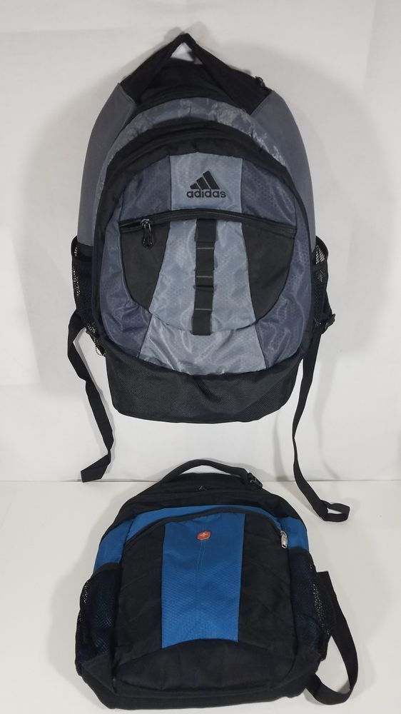 1b5112df27 Laptop backpack LOT Adidas load spring Swiss Gear travel bag multi  compartment  adidas  Backpack