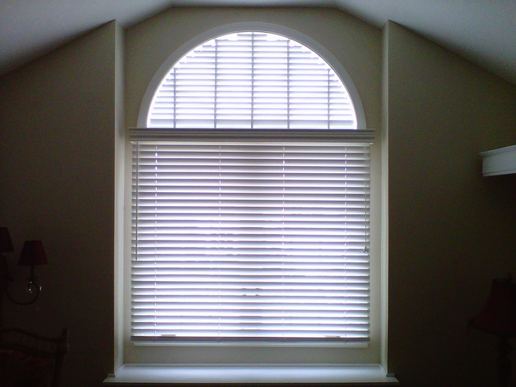 Arched window treatment option http://www.greatplainsblindfactory.com/