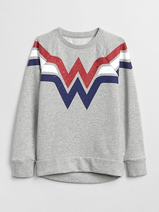 7fe8989258a Gap Girls Gapkids | Dc™ Wonder Woman Tunic Sweatshirt Grey Heather ...