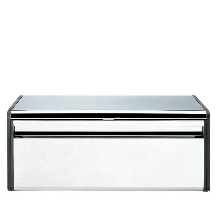 <p>The Brabantia Steel Fall Front Bread Bin is an ultra modern bread bin, finished in brilliant steel with matt black sides. The bread bin has been designed with a flat top; handy for storing canisters on top. With its fitted magnetic seal this bin will ensure your bread stays at its freshest .</p>