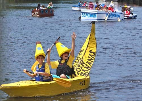 cardboard boat  | Complete list of winners in the fourth annual cardboard boat race