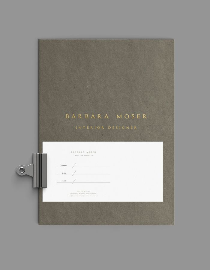 Brand Identity + Website Design for Barbara Moser by Corina Nika