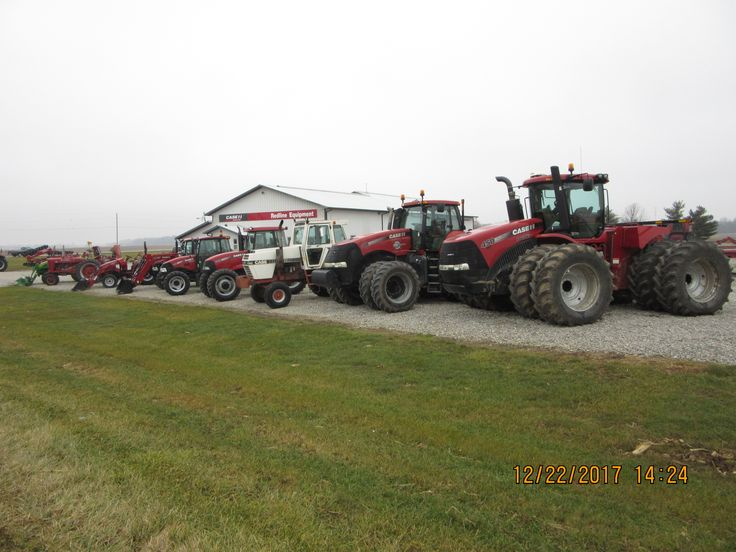 Used tractors for sale in Rossville r-l:CaseIH Steiger 450,340 magnum,Case 2390,85C,75C,45C,Farmall M & John Deere 4320  compact diesel tractor