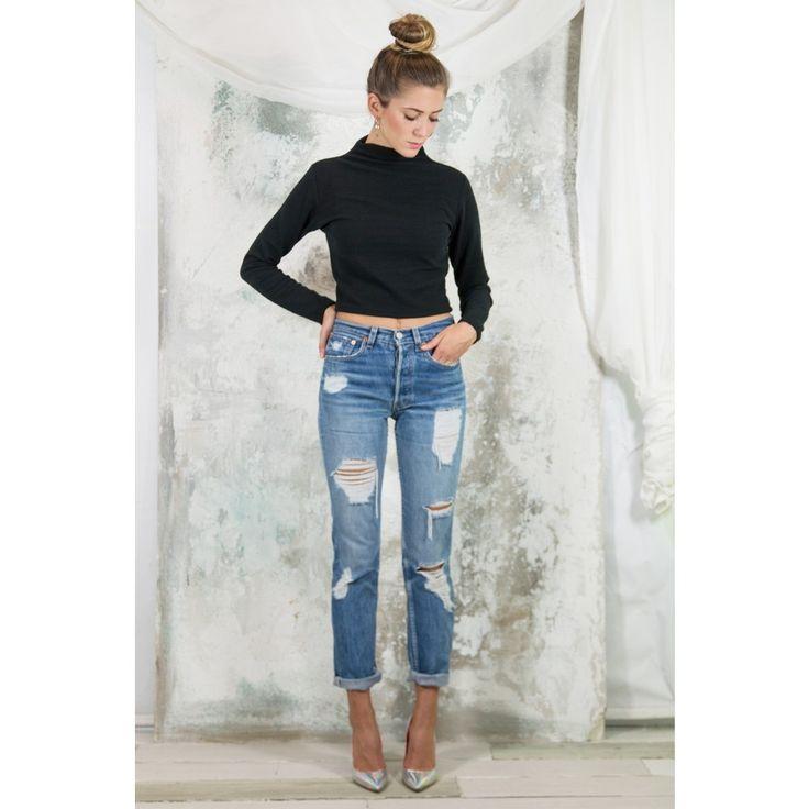 jeans strappati alta vita - Cerca con Google